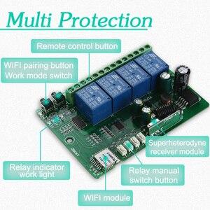 Image 4 - KTNNKG AC cc 7V 36V 4CH WiFi télécommande sans fil universel porte de garage récepteur et 2/4 pièces Ev1527 433MHz RF télécommandes