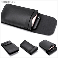 For Huawei P10 Plus Luxury Microfiber Leather Double Cell Phone Waist Pack Sleeve Bag Cover Pouch