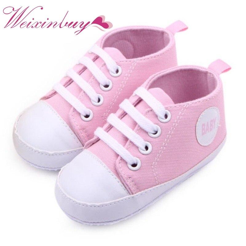 Baskets enfant bébé garçon fille à lacets semelle souple berceau chaussures nouveau-né à 12 mois