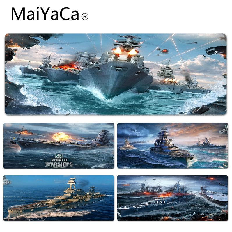 MaiYaCa  World Of Warship Beautiful Anime Mouse Mat Size For 30x90x0.2cm Gaming Mousepads