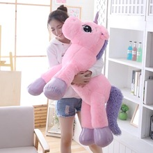 new arrival 80cm 110cm unicorn plush toy pink white big plush animal soft doll toys for children birthday gift for girlfriend