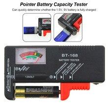 BT-168 батарейки AA/AAA/C/D/9 В/1,5 в, универсальный кнопочный элемент батареи, цветной кодовый измеритель, указывающий тестер напряжения