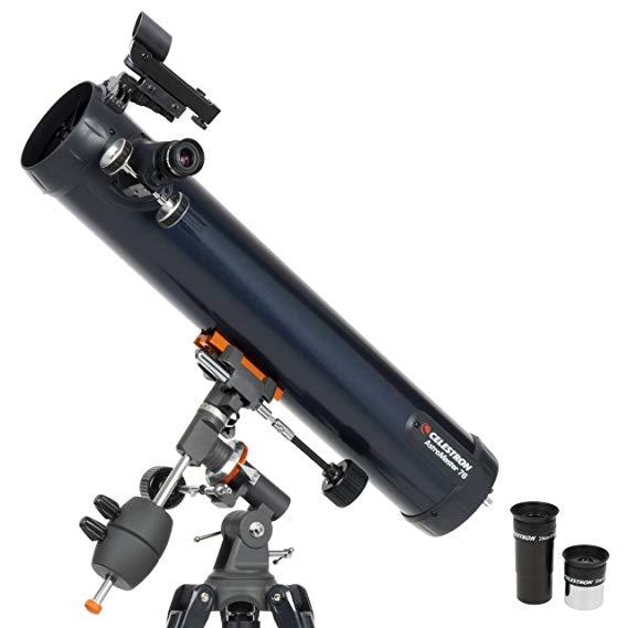 CELESTRON AstroMaster 76EQ Newtonian отражатели телескоп Red Dot Finderscope зрительные трубы CG 2 Экваториальная штатив