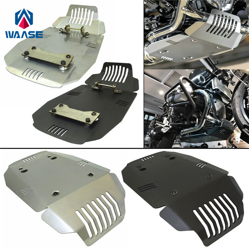 US $88 2 30% OFF waase Motorcycle Engine Guard Skid Plate Protector 4mm  Thickness For BMW R Nine T 2013 2014 2015 2016 2017 2018 2019-in Covers &