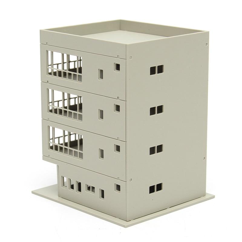1:160 Outland Models Railway Modern 4-Story Office Building DIY N Scale Gift