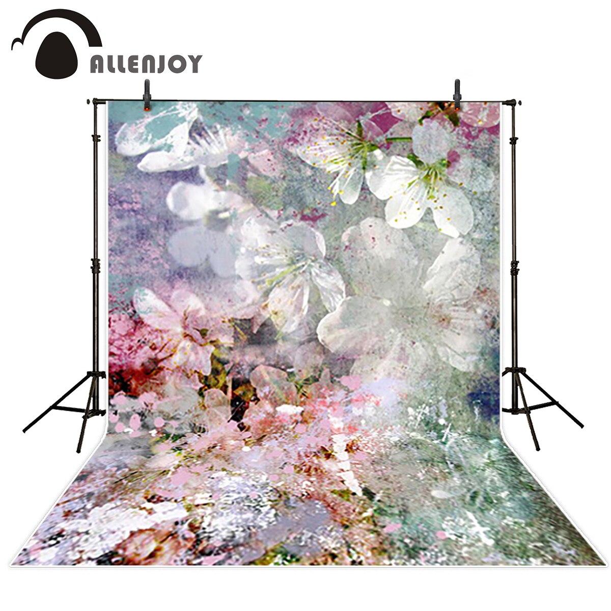 Allenjoy Latar Belakang Untuk Fotografi Studio Putih Pink Bunga