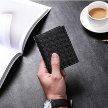 Wmnuo Business Genuine Leather Card Holders Male Korean Mini Braided Head Layer Cowhide Male And Female Multi-card Wallet Unisex(China)