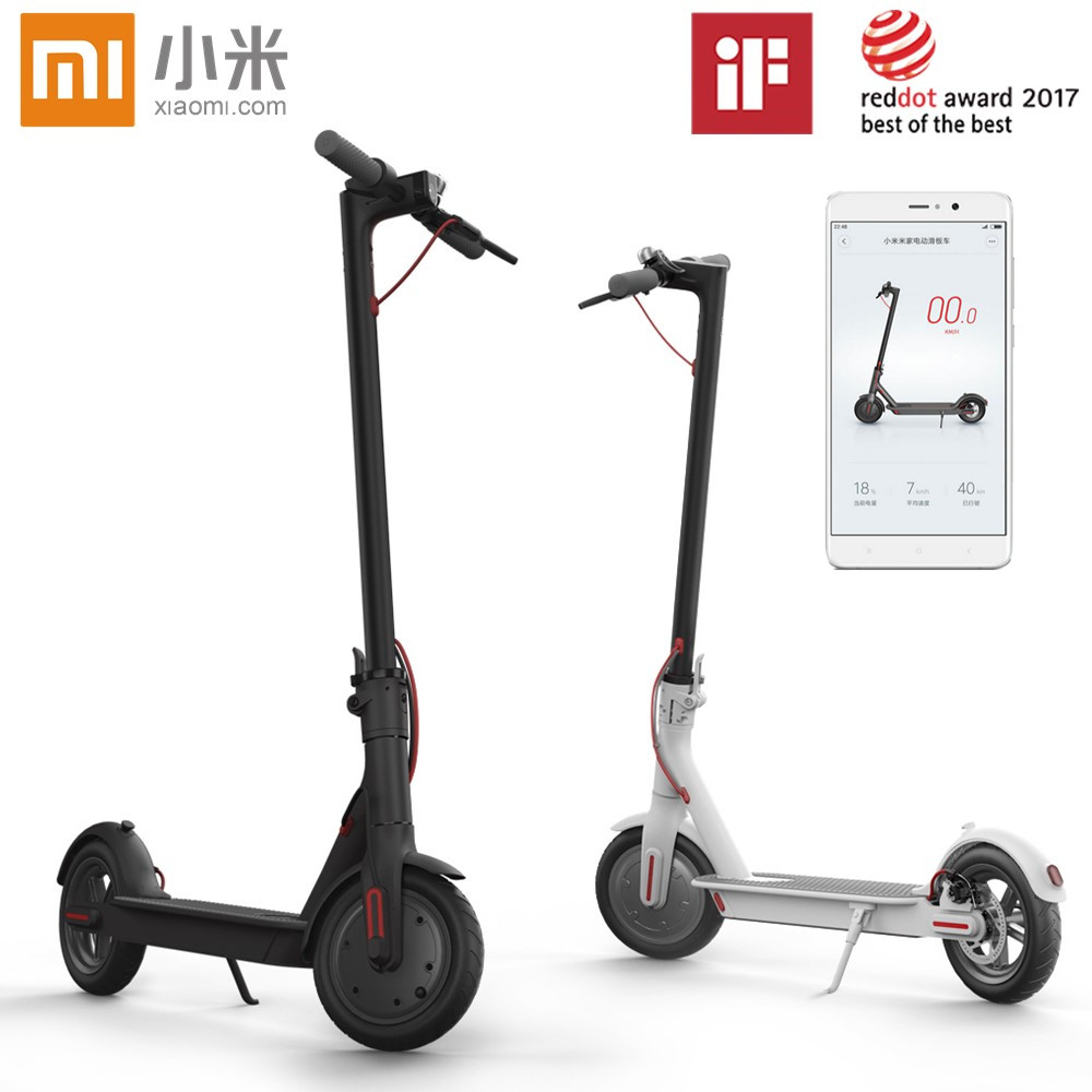 Original Xiaomi Mijia M365 Smart Electric Foldable Scooter 2 Wheels Hoverboard Oxboard 30km mileage LG Battery Kick Scooters electric kick scooter foldable aluminium alloy electric scooter for adult lcd display 2 wheels led light 120kg load hot sale