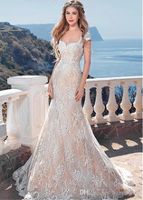 Sweetheart Elegant Wedding Dresses Sexy Back Open Mermaid Cap Sleeve Vestidos De Novia Con Encaje Country Style KS34