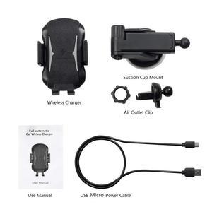 Image 5 - Qi bezprzewodowa ładowarka samochodowa góra auto mocowanie 10W szybkie ładowanie uchwyt telefonu dla iPhone 11 8 X XR XS Samsung S20 S10 S9 uwaga 10 9