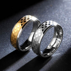 Women Ring Wedding Rings Custom Ladies Gold Men's Jewelry 6mm Stainless Steel Engagement Fine Jewelry Glamour Women Design