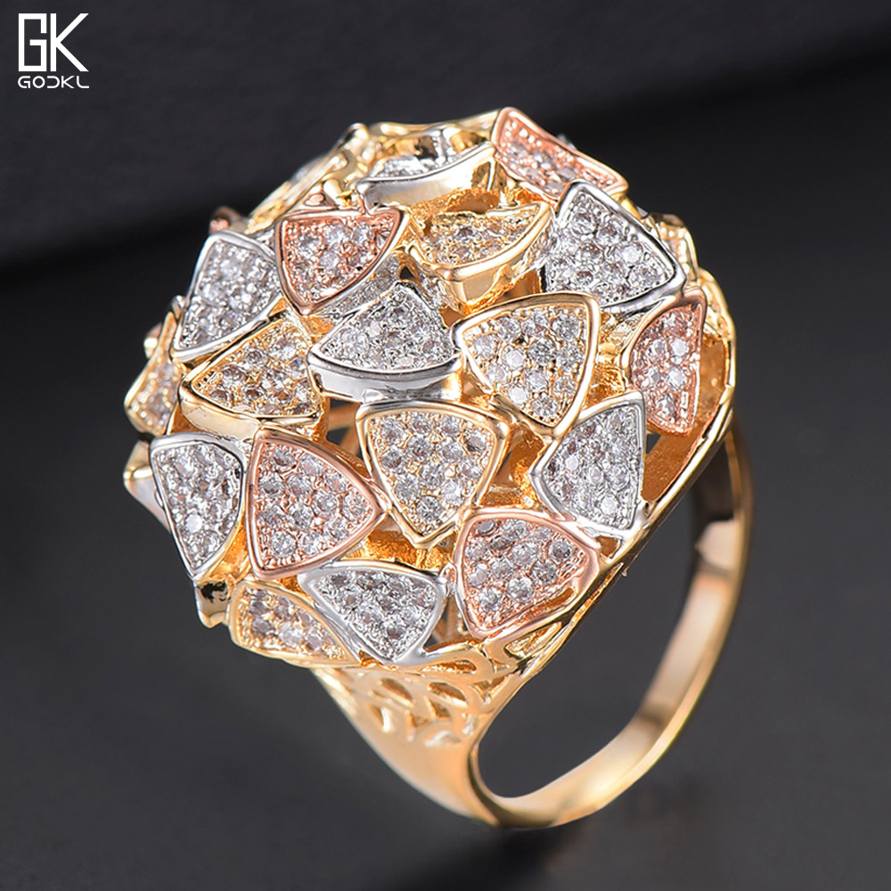DTZH Rings Jewellery Womens Ring Character bark Green Copper Ring Material Copper