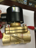 3/4 Electric Gas Control Solenoid Valve Brass LPG / NG Normally Close Valve 2 Way Pneumatic Valve