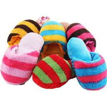 Hot Cute Puppy Toy Pet Chew Play Squeaker Sound Plush Slippers Shape Gift for Dog