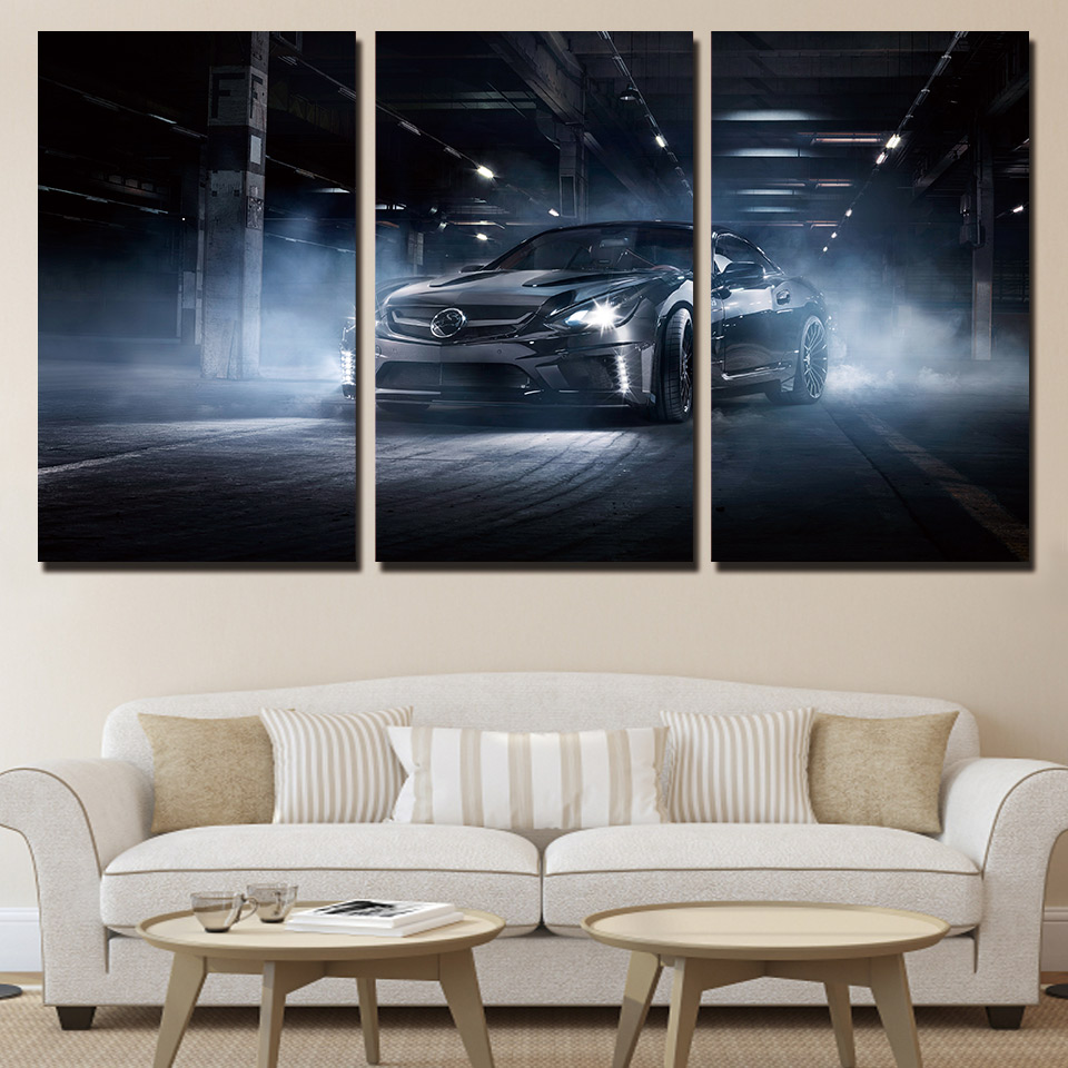online get cheap cool sport posters aliexpress com alibaba group modern canvas wall art poster frame home decor 3 pieces black cool flashy sports car painting