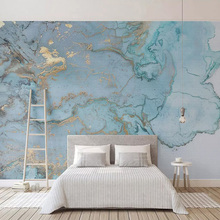 Papeles De pared De fotos personalizados 3D estéreo textura azul mármol pared Papel murales Sala TV sofá dormitorio estudio decoración Papel De pared