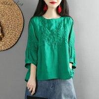 Traditional chinese blouse shirt tops for women mandarin collar oriental linen shirt blouse female cheongsam top G163