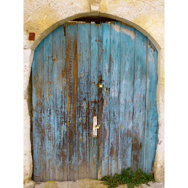 Ancienne porte en pierre maison photo toile de fond polaire photographie décors pour portrait studio photographie fond F-1541-A