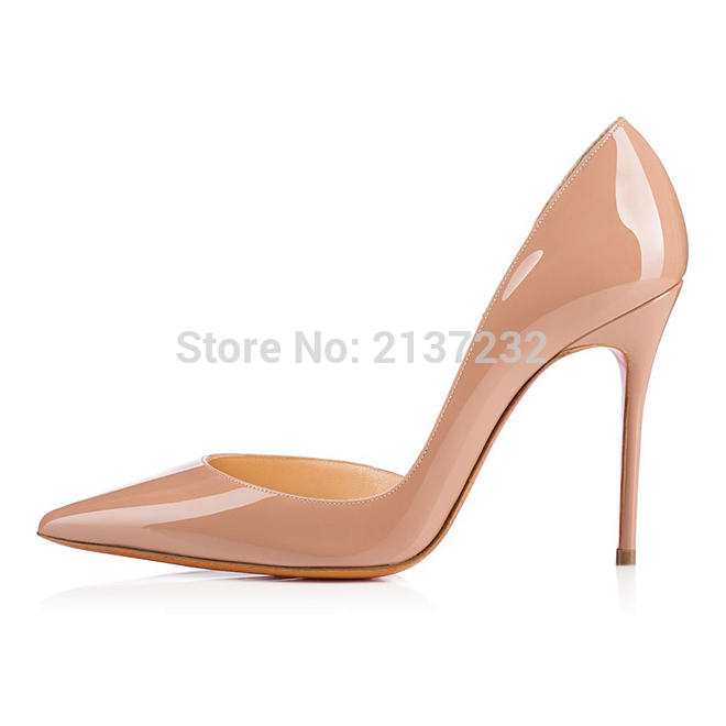 ФОТО 2016 New Fashion sexy high heel Sandals Solid Shoes D'Orsay&Two-Piece Solid Pointed Toe Customize slip-on pumps big size5-15