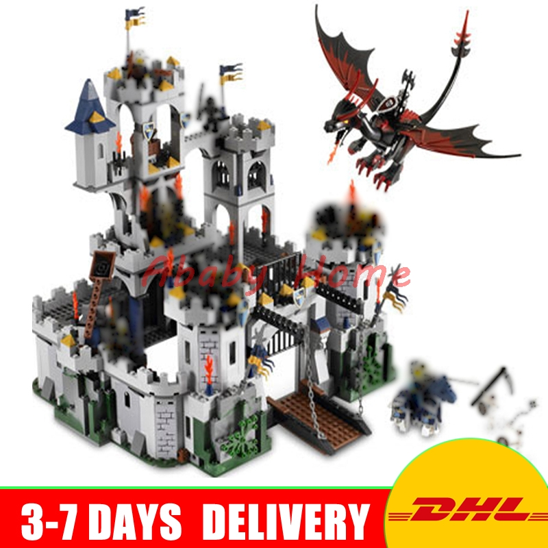 DHL Lepin 16017 1023pcs Castle Series The King\'s Castle Siege Education Building Block Bricks Toys Compatible 7094 In Stock lepin genuine 16017 castle series the king s castle siege set children building blocks bricks educational toys model gifts 7094