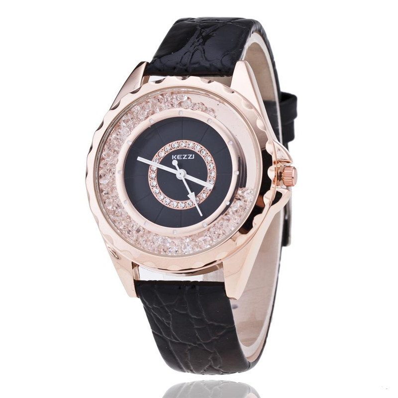 Sale Free shipping Kezzi Top Brand Leather Strap Watches Women Diamond Watch Ladies Wristwatches Designer Quartz watch k742 free shipping 1pc quartz watch impulse