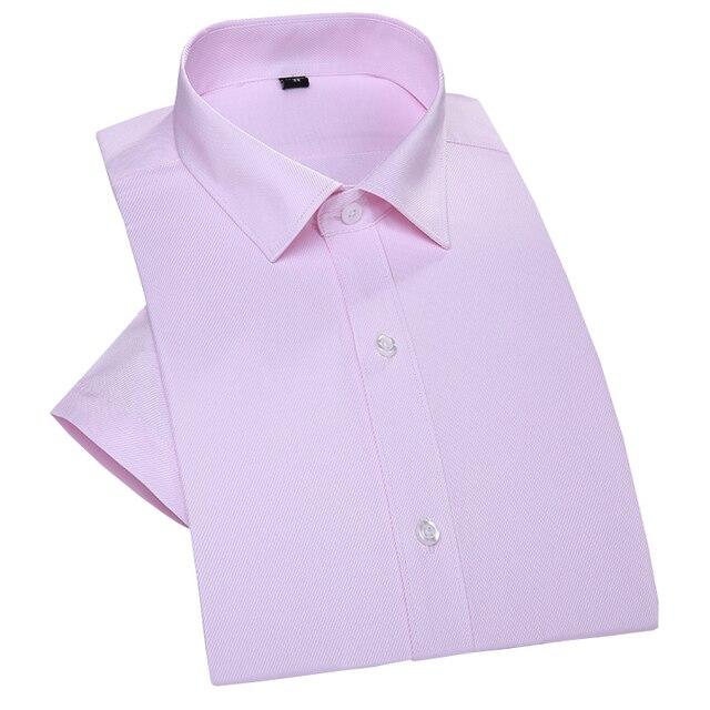 1005 Cotton Twill Short Sleeve Men Summer Shirts Formal Brand Designer Wedding Dress Party Business Camisa Masculina vT0055