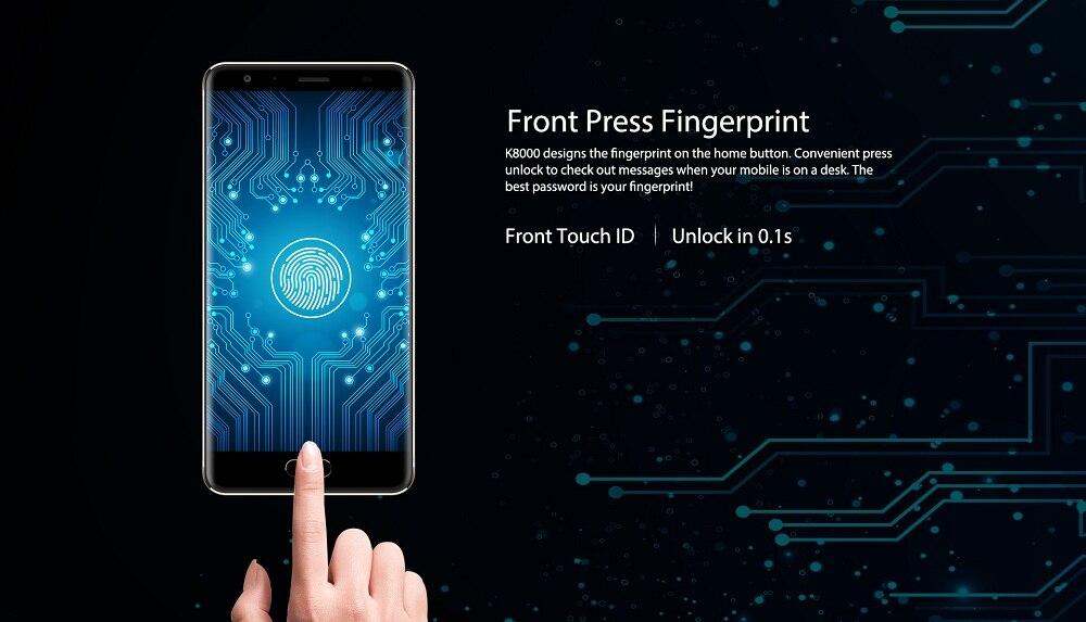 Oukitel K8000 - пръстов отпечатък