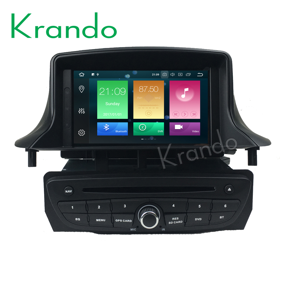 Krando Android 9.0 7'' 32GB ROM car radio for Renault <font><b>Megane</b></font> <font><b>3</b></font> <font><b>gps</b></font> navigation player Steering wheel control wifi dab+ image