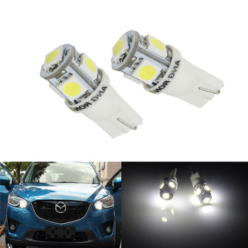 ANGRONG 2x T10 W5W 501 Xenon White 5 SMD Auto Car LED Side Light Indicator Bulbs For BMW E46 E53 E90 E82 E60 X3 E83 E91 Coupe image