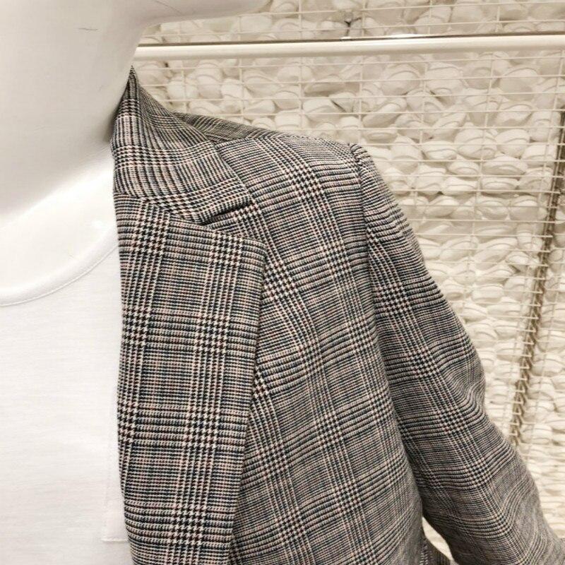 Plaid Suit Jacket Women Korean 2019 Spring And Autumn New Casual Slim Temperament Women's Long Sleeve Blazers