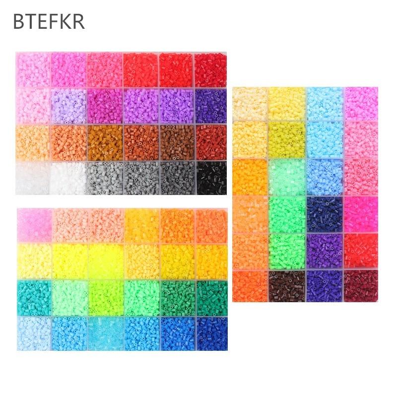 1000pcs/bag 2.6mm Hama Beads Puzzle Toys 72 Colors Diy Perler Beads For Children Adults 3D Puzzles Perles De Hama Dropshipping
