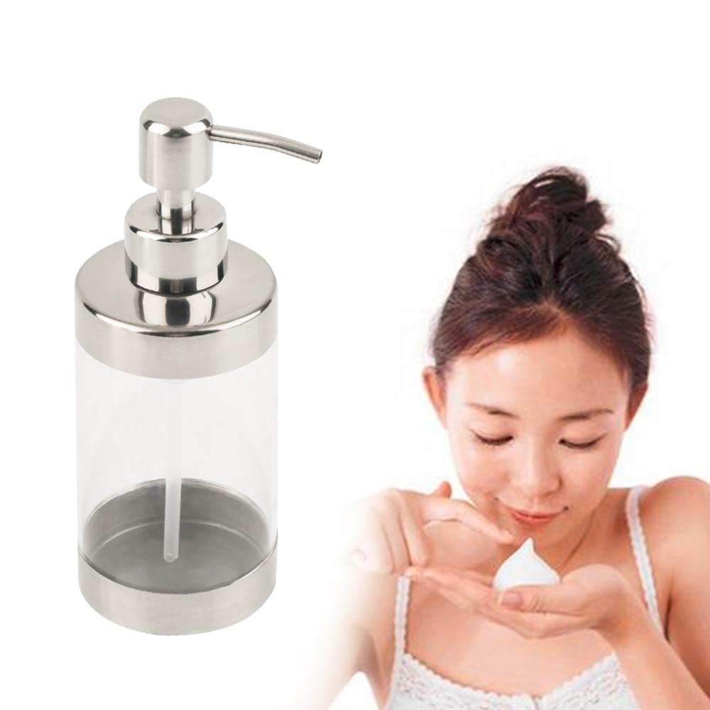 2017 Fashion Stainless Steel Press Soap Dispenser Liquid Hand Washing Shampoo Pump 11 11 free shippinng 6 x stainless steel 0 63mm od 22ga glue liquid dispenser needles tips