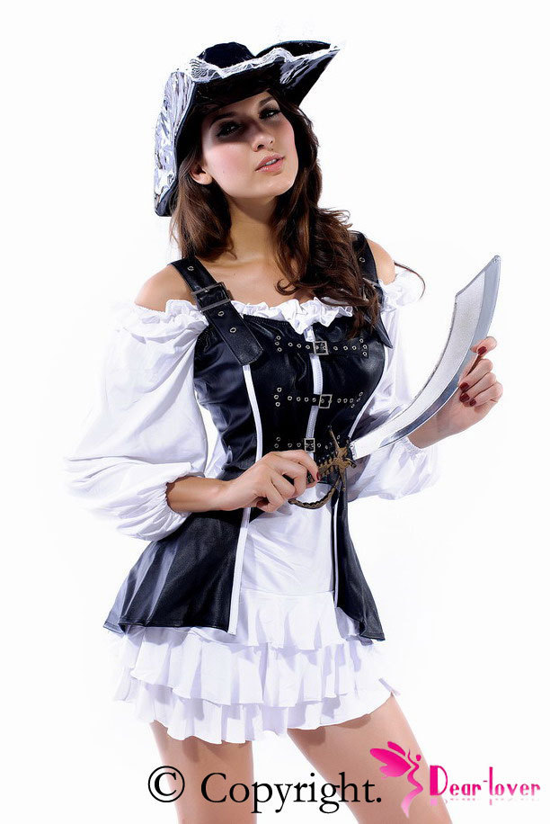 Fancy Dress Sexy Pirate, 4 Piece Pirate Maiden Costume Lc8403 New 2014 Sexy Costumes -2934