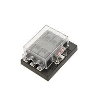 Car Light Source Hot Sale 6 Way Circuit Car Fuse Box Holder 32V DC Waterproof Blade Fuse holder Block for Auto Car Boat