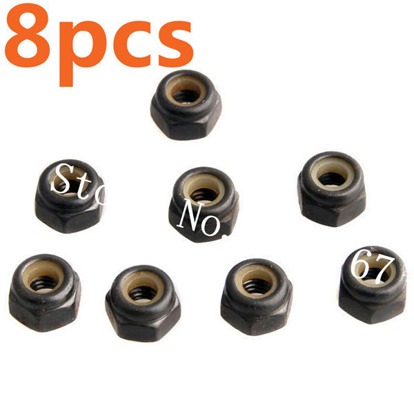 8Pcs 02055 HSP Spare Parts Nylon Nut M4 For 1/10 Racing RC Car Hobby Truck Buggy Drift ATV Baja