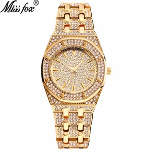 Image 1 - 탑 디자이너 브랜드 럭셔리 여성 시계 베스트 셀러 2018 제품 다이아몬드 Ap 시계 방수 여성 골드 시계 선물 상자