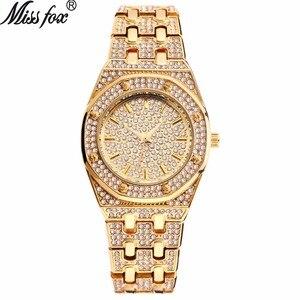 Image 1 - Tops Designer Brand Luxe Vrouwen Horloges Best Selling 2018 Producten Diamant Ap Horloge Waterdicht Vrouwen Gouden Horloge Met Gift Box