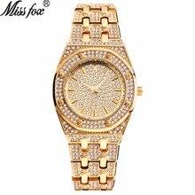 Topy projektant marki luksusowe kobiety zegarki bestsellery 2018 produkty diament Ap zegarek wodoodporny kobiety złoty zegarek z szkatułce