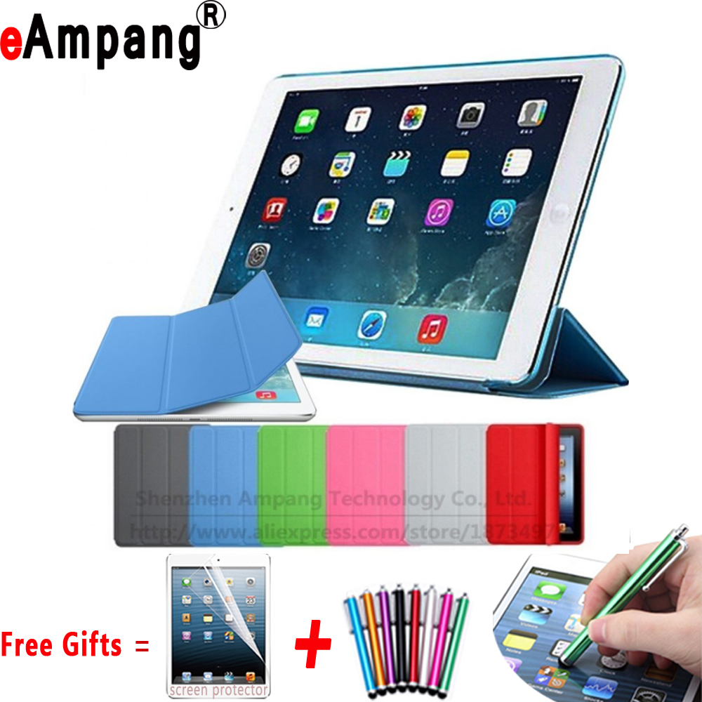 Ultra Slim Magnetic Connected Smart Auto Sleep Awake Case with Matte Hard Back Cover for Apple iPad 2 3 4 9.7 Coque Capa Funda