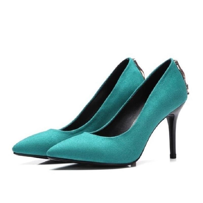 ventas calientes nuevo estilo de la mejor moda € 34.98 23% de DESCUENTO|Bonitos zapatos de mujer Sexy Rojo Negro tacones  altos imitación gamuza fiesta tacones altos señoras zapatos de boda novia  ...