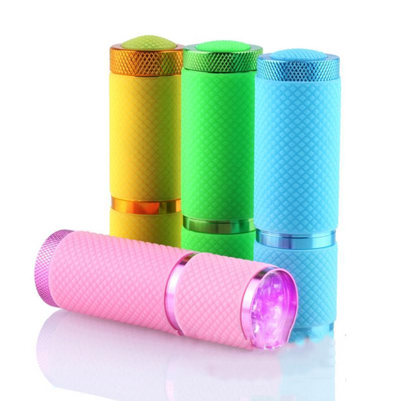 Portable Mini 9 LED Nail Dryer Curing led gel lamp Flashlight Torch For UV Gel Nail Polish Dryer Beautiful Tools