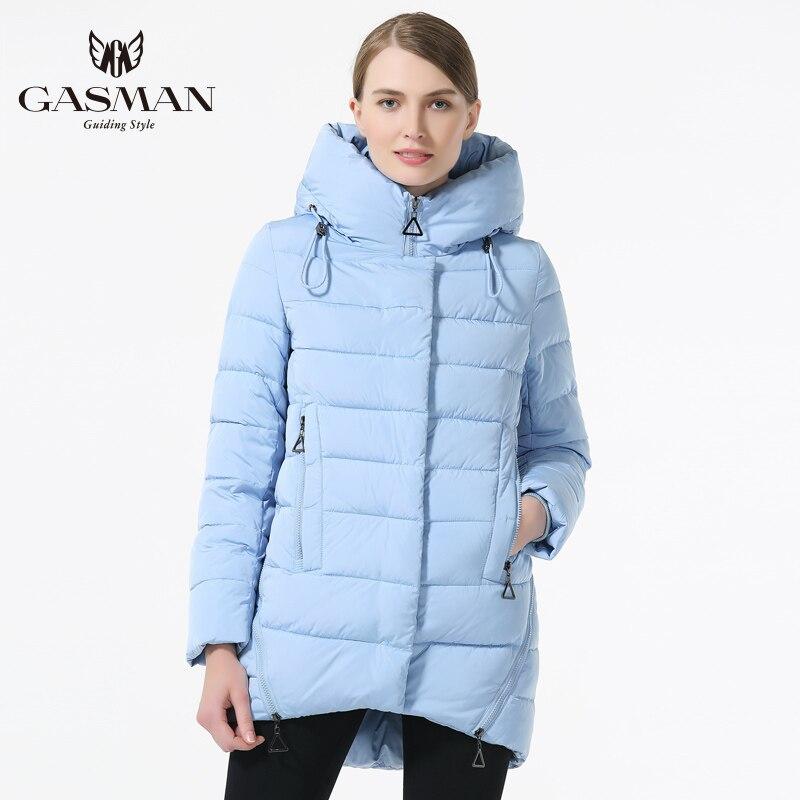 GASMAN 2019 النساء الشتاء قصيرة أسفل سترة عارضة معاطف مقنع الدافئة أسفل سترة للنساء الأزياء الدافئة الشتاء يندبروف معطف-في سترات فرائية مقلنسة من ملابس نسائية على  مجموعة 2