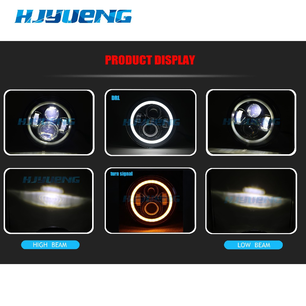 Image 4 - HJYUENG 7inch LED For 22 Motorcycles Touring  Head Light 7'' Halo LED Headlight With Angle Eye
