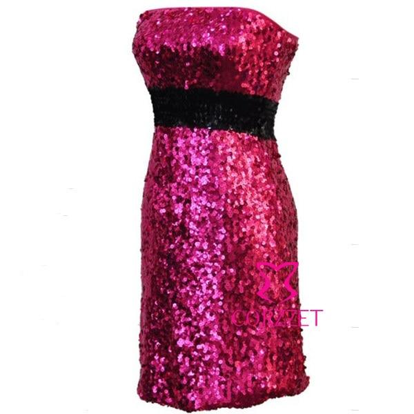 Fashion Brand Wedding Party Nightclub Club Wear Sexy Strapless Sequined Blue Dress Ladies Cheap Club Dresses M L XL XXL