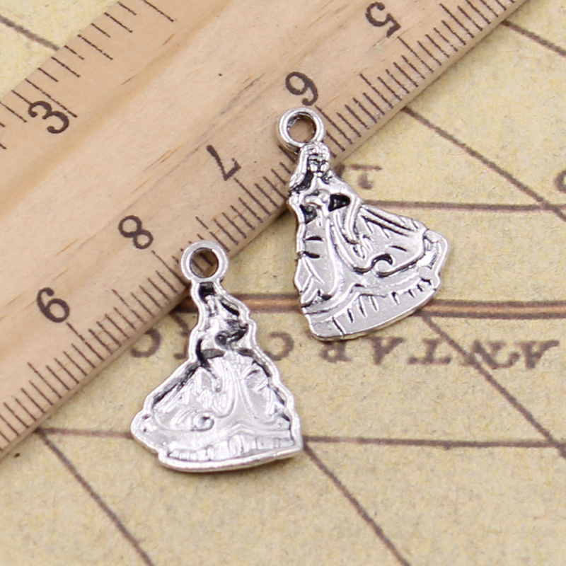 Faithful 12pcs/lot Charms Southern Bell Lady Dancer 21x15mm Antique Silver Pendants Making Diy Handmade Tibetan Silver Finding Jewelry Refreshment Home & Garden
