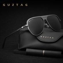 GUZTAG للجنسين الكلاسيكية ماركة الرجال الألومنيوم النظارات الشمسية المستقطبة UV400 مرآة الذكور نظارات شمسية للنساء الرجال Oculos دي سول G9828