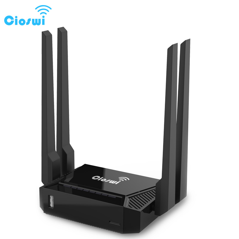 300Mbps Router Wi-Fi openWRT Mobile Hotspot, 1 WAN 4 LAN Ports, Perfect to Small Medium  ...