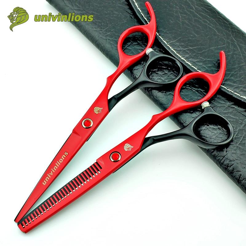 """6 """"profesjonalne strzyżenie nożyczki fryzjerskie przerzedzenie nożyczki profesjonalne japonki nożyczki do włosów wysokiej jakości maszynki do strzyżenia włosów dla dzieci"""