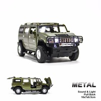 Groothandel Pull Back Wind Up Alloyv Speelgoed Voertuig H2 SUV en SUT H2 Collectible Speelgoed Vrachtwagens