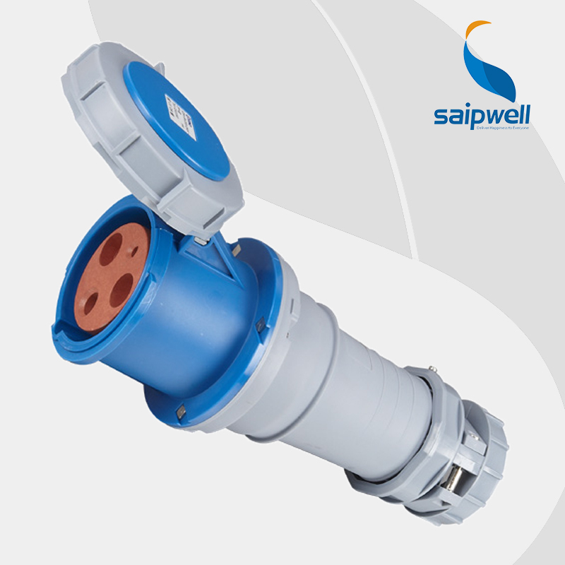 цена на Wholesale Saipwell 63A 400V 5P (3P+N+E) EN / IEC 60309-2 connector industrial socket 4 pin industrial socket SP3390